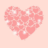 Valentines day heart backgroung, vector illustration — Stock Vector