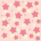 Pinr stars background vector illustration — Stock Vector