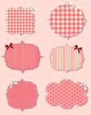 Set of different Valentine's day labels, design elements — Stock Vector