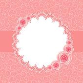 ładny ramki z ilustracji wektorowych róża kwiaty — Wektor stockowy