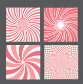 Retro vintage hypnotic background set — Stock Vector