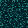 Flower Leaves Seamless Pattern Background Vector Illustration — ベクター素材ストック