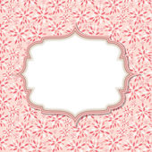 Cute Pink Frame Vector Illustration — Stock Vector