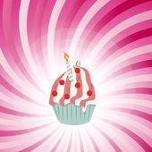 Cupcake invitation card vector illustration — Stock Vector