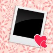 Valentine's Day Photo Card with Heart Vector Illustration — Stock Vector