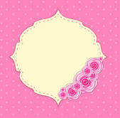Cute frame with rose flowers — Vecteur