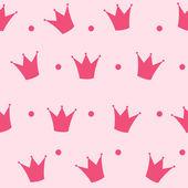 Princesa corona inconsútil de fondo — Vettoriale Stock