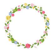Květinové rámec pro svatby a narozeniny karty. — Stock vektor