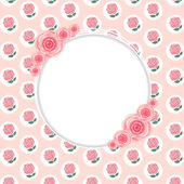 Floral frame with rose flowers — Vecteur