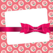 Valentine's Day card with bow and ribbon — Vector de stock