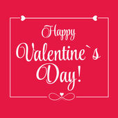St. Valentine day's greeting card — Stock Vector