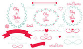Set of Wedding Graphic Elements — Wektor stockowy