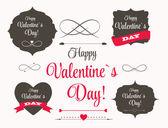 Vector St Valentine Day's Labels — ストックベクタ
