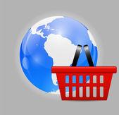 Global-shopping-Konzept — Stockvektor