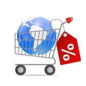 глобальная торговая концепция — Cтоковый вектор