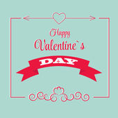 St Valentine Day's Greeting Card — Stock Vector