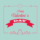 St sevgililer günü tebrik kartı — Stok Vektör