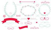 Set bruiloft grafische elementen — Stockvector