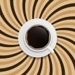 Coffee abstract hypnotic background. — Stock Vector #38715637