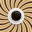 Coffee abstract hypnotic background. — Stock Vector #38715647