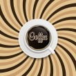 Coffee abstract hypnotic background. — Stock Vector #38715831