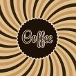 Coffee abstract hypnotic background. — Stock Vector #38715949