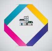 Concetto di città infografica modello aziendale — Vettoriale Stock