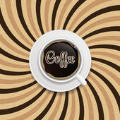 Coffee abstract hypnotic background. — Vecteur
