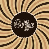 Coffee abstract hypnotic background. — Stock Vector