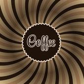 Kaffe abstrakt hypnotisk bakgrund. — Stockvektor