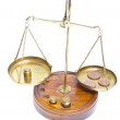 Brass scales of justice. — Stock Photo