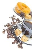 Italian espresso donut, brown sugar — Stock Photo