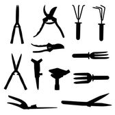 Garden Tools Set. — Stockvector