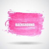 Abstract Pink Grunge Splash Banner — Stok Vektör