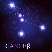 Cancer zodiac sign of the beautiful bright stars — Stock Vector
