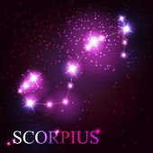 Scorpius zodiac sign of the beautiful bright stars — Stock Vector