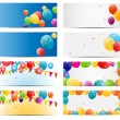 Color glossy balloons card background — Stock Vector #40927253