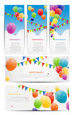 Color glossy balloons background — Vector de stock
