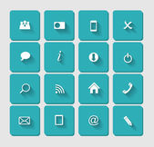 Vector Flat Icon Set for Web — Stock Vector