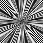 Black and White Hypnotic Background. Vector Illustration. — Stock Vector