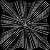 Bianco e nero sfondo ipnotico. illustrazione vettoriale. — Vettoriale Stock