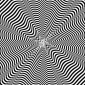 黒と白の催眠術の背景。ベクトル イラスト. — ストックベクタ
