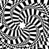 Noir et blanc fond hypnotique. illustration vectorielle. — Vecteur