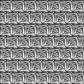 Black and White Hypnotic Background Seamless Pattern. — Stock Vector