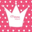 Princess Crown Background Vector Illustration. — Vecteur