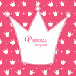 Princess Crown Background Vector Illustration. — ストックベクタ
