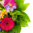 Colorful flowers bouquet isolated on white background. — Stock Photo #42207765