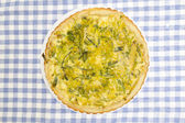 French onion quiche — Stock Photo