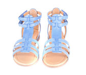 Blue Children's Maiden Sandal Isolated on White Background — Stock Photo