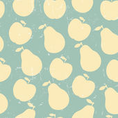 Seamless pattern of  apple and pear — Vettoriale Stock